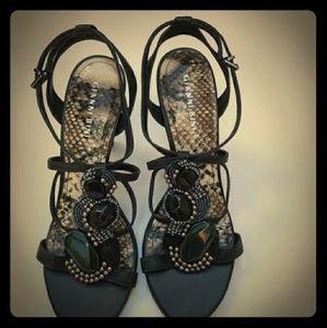 Gianni Bini Beaded Strappy Heels